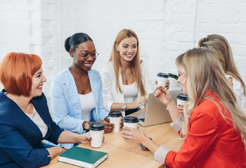 Group of women talking with each other